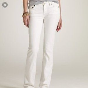NWT J. Crew White Bootcut Jean Classic FIt 29S